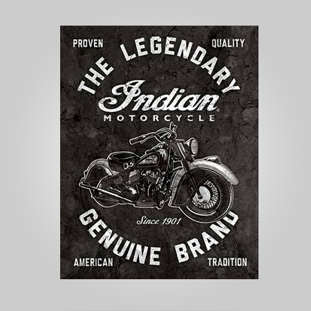 """Indian Motorcycle"" Tin Sign"