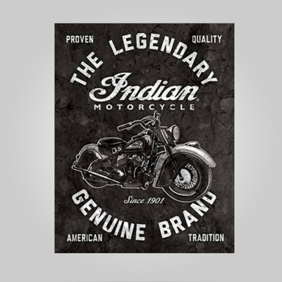 """Indian Motorcycle"" Tin Sign"