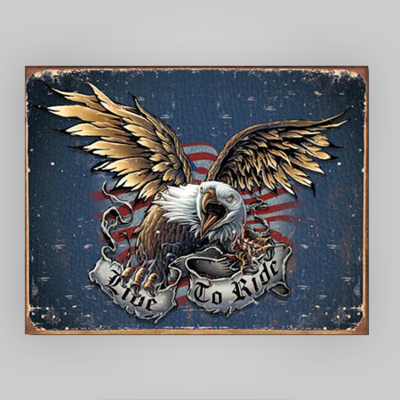 """""""Live to Ride"""" Tin Sign"""