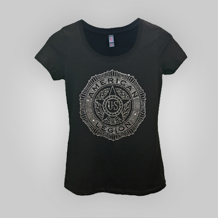 Lady Legion Clear Rhinestone T-shirt