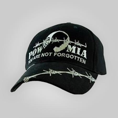 POW/MIA Black Cap