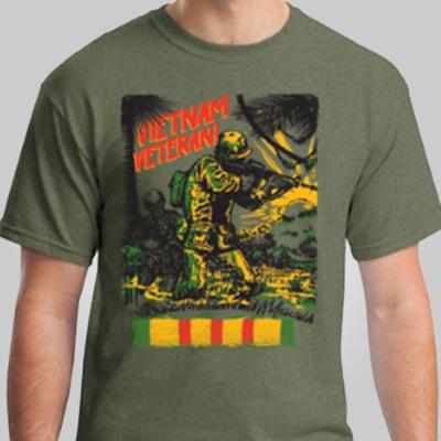 Vietnam Veteran War Comic T-shirt