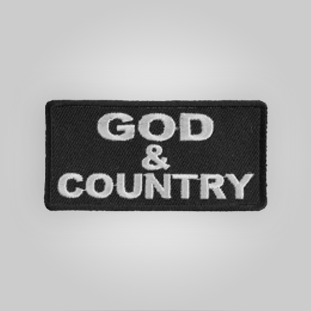 God & Country Patch