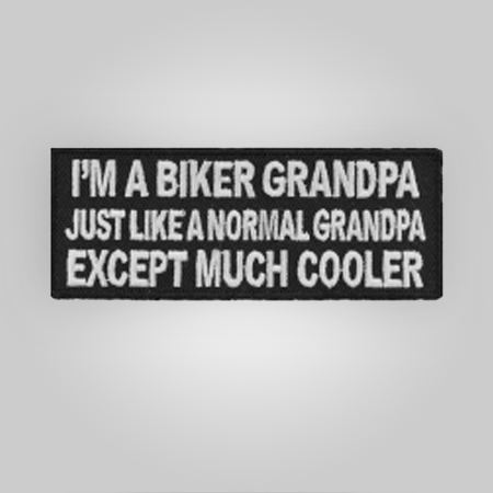 Cool Biker Grandpa Patch