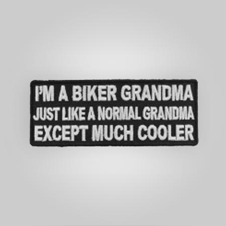 Cool Biker Grandma Patch