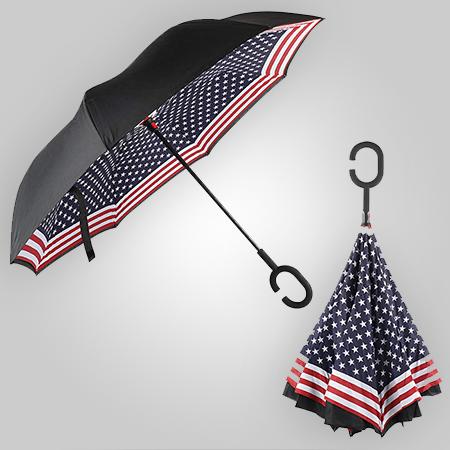 Patriotic Inverted Umbrella