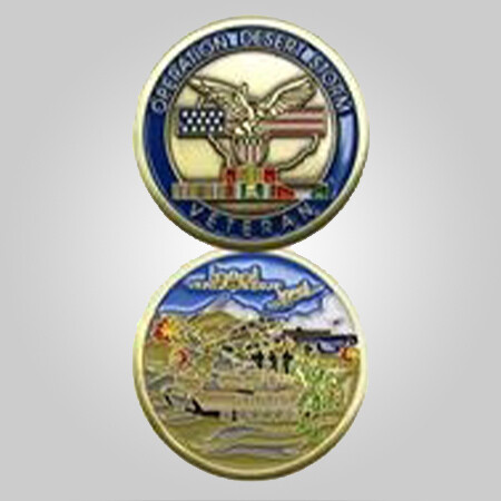 Desert Storm Veteran Coin