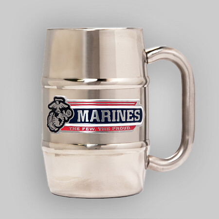 U.S. Marines 16oz Barrel Steel Mug