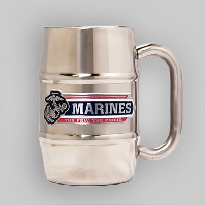 U.S. Marines 16oz Barrel Steel Mug