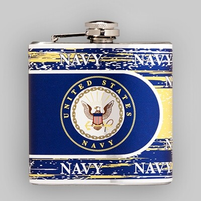 Navy 6oz Flask
