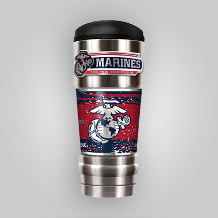 U.S. Marines 18oz Vacuum Steel Tumbler