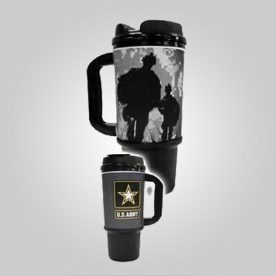 Army 24oz Travel Mug - Made in the USA