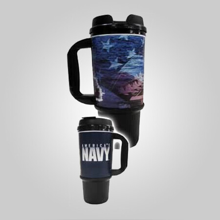 Navy 24oz Travel Mug - Made in the USA