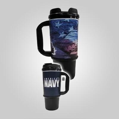 Navy 24oz Travel Mug - Made in the USA