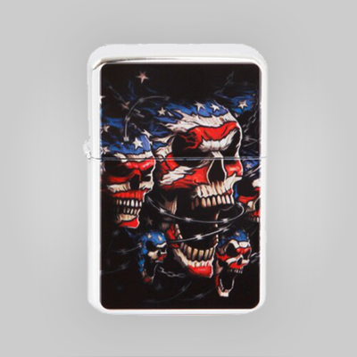Patriotic Wind Proof Lighter with Tin