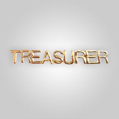 Cap Bar Pin - Treasurer