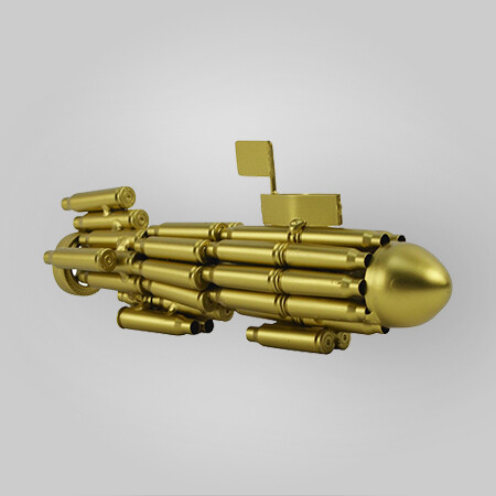 Bullet Casings Navy Submarine