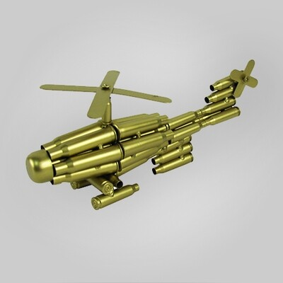 Bullet Casings Helicopter