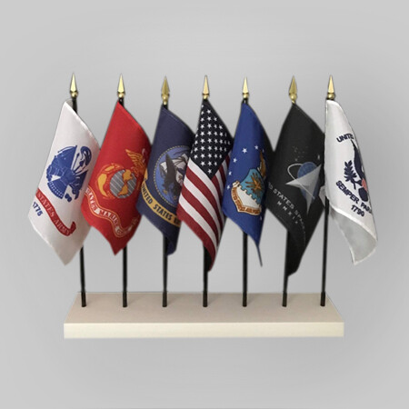 US 4x6 Desk 7 Flag Set