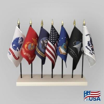 US 4x6 Desk 7 Flag Set