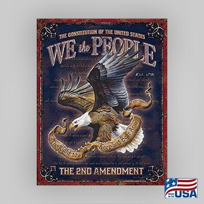 """""""We The People"""" Tin Sign"""