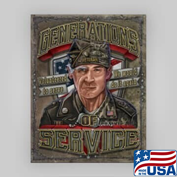 """""""Generations of Service"""" Tin Sign"""