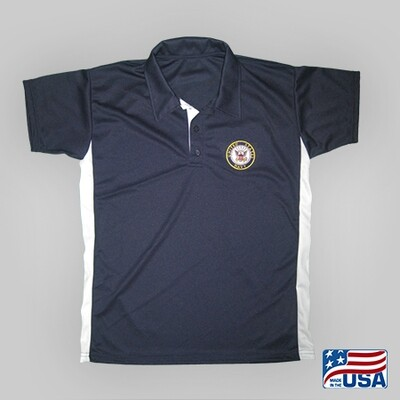 Navy Performance Golf Shirt