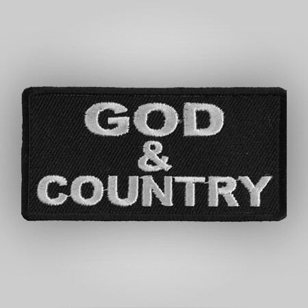 God and Country Patch