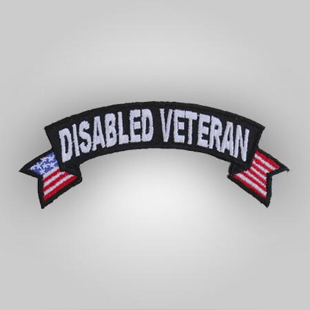 Disabled Vet Flag Patch