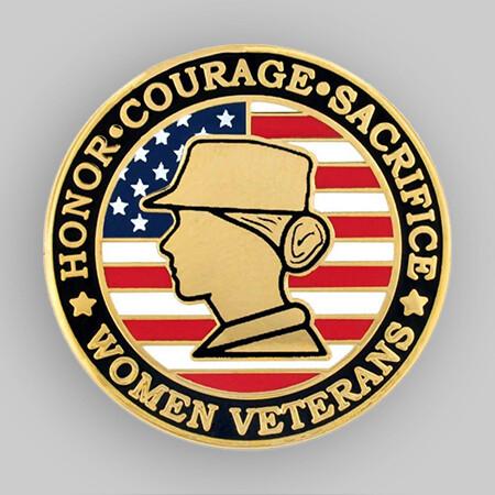 Female Veteran Pin