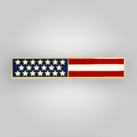 American Flag Bar Pin