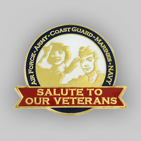 Salute Our Veterans Pin with Magnetic Back