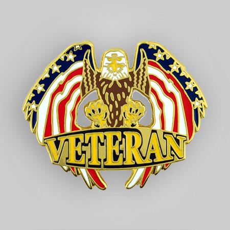 Veteran Eagle Pin