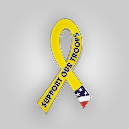 Awareness Pin - Support Our Troops