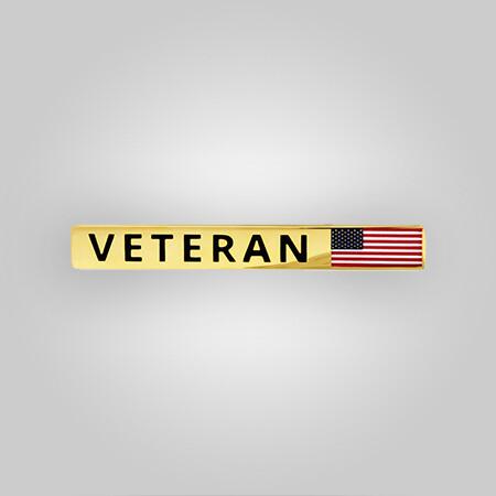 Veteran Flag Tie Clip