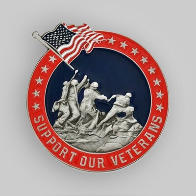 Support Our Veterans Pin