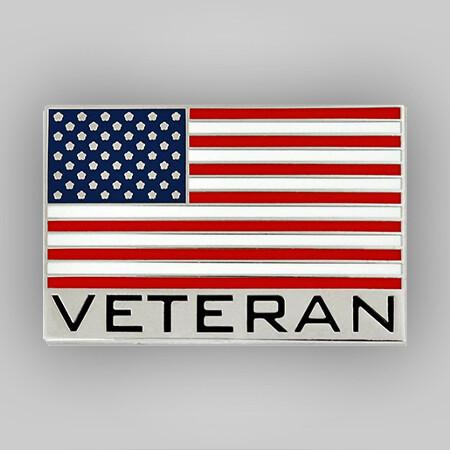 Veteran American Flag Pin