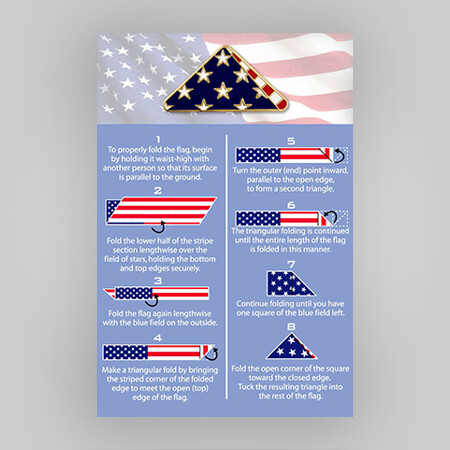 Folded Flag Pin on Card