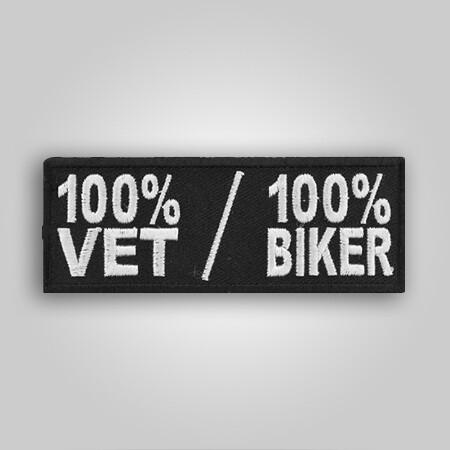 100% Vet/100% Biker Patch