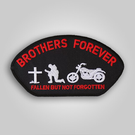 Brothers Forever Biker Cap Patch