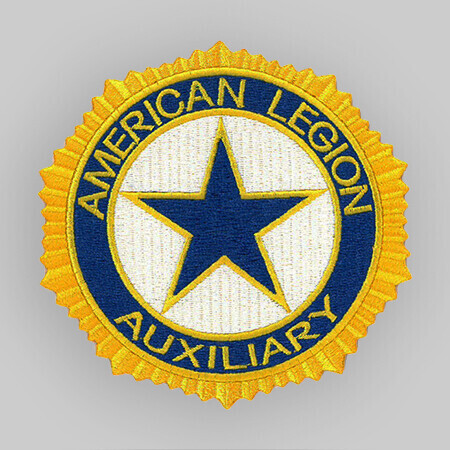 """Laser-Cut Auxiliary Embroidered Patch 1.25"""""""