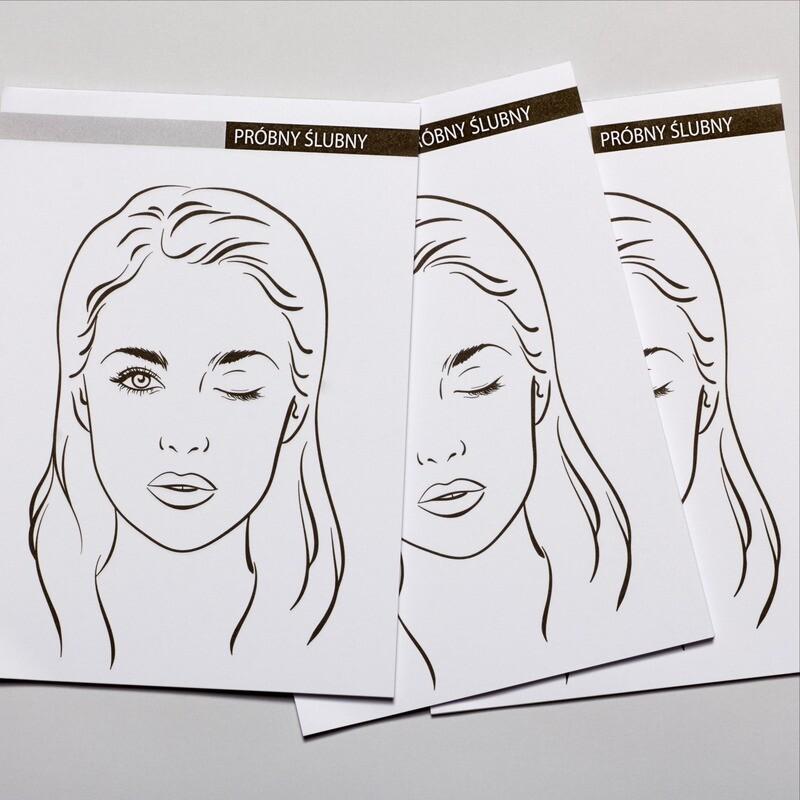 ZESTAW 3 x BEAUTY NOTES Face Chart