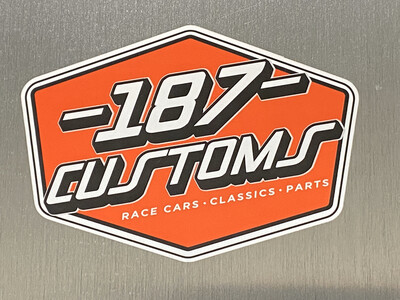 187 Customs Decal