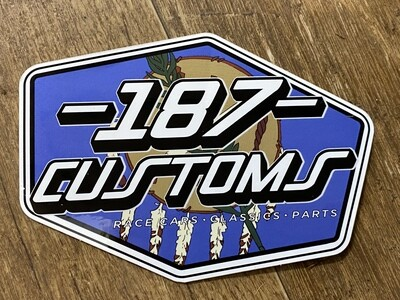 187 Customs Oklahoma Proud Decal