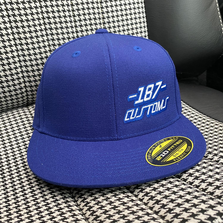 187 Customs BLUE Hat *FLAT BILL*