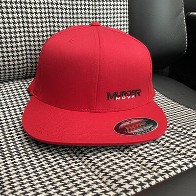 MURDER NOVA -RED- CLASSIC FLEX FIT *FLAT* BILL