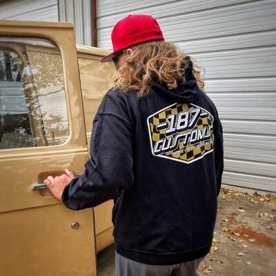 187 Customs Metallic Gold Hoodie 2020