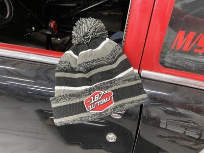 187 Beanie Black And Grey Embroidered And Fleece lined