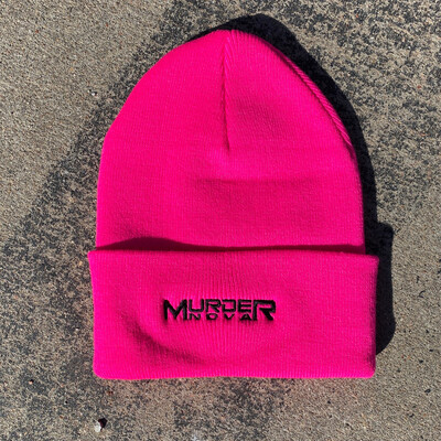Murder Nova Safety Pink Embroidered Beanie