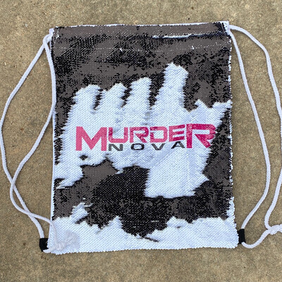Murder Nova Drawstring Sequin Backpack
